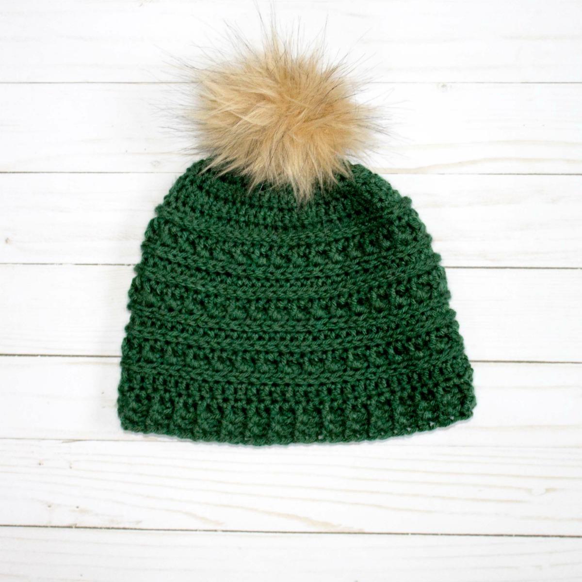 Mountain Ridges Crochet Hat- a free pattern - thefriendlyredfox.com