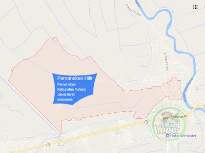 Peta Desa Pamanukan Hilir, Kecamatan Pamanukan