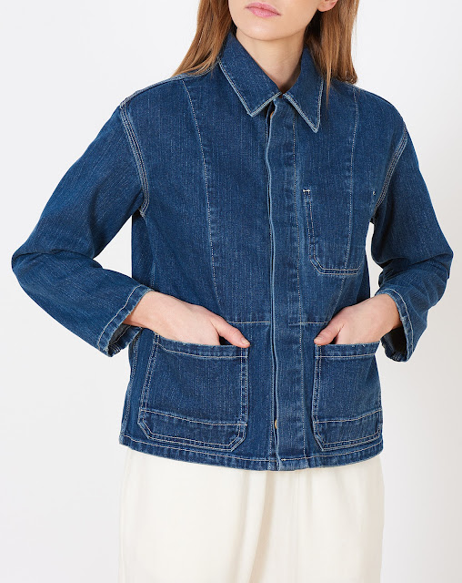 Caron Callahan Krasner Jacket in Indigo Twill Denim