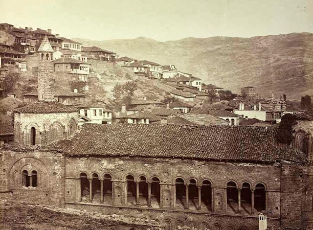Ohrid Sophia mosque seen from the western side  End of September 1863 - Macedonia in 1863 - Photo Collection of Josef Székely