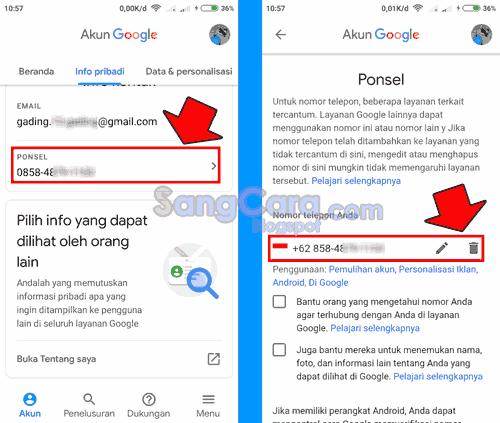 Cara Hapus Mengganti Nomor Telepon Baru Di Gmail Lewat Hp Sang Cara