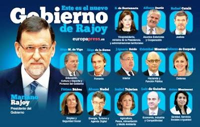 Gobierno de Rajoy tiene cinco mujeres, una más que en el de 2011, frente a nueve hombres