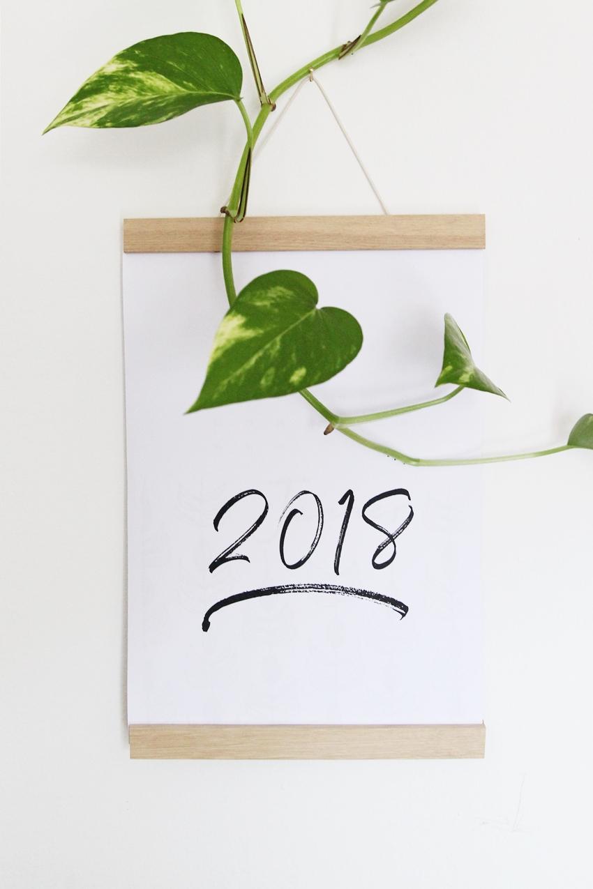 magnoliaelectric freebie kalender 2018 zum ausdrucken. Black Bedroom Furniture Sets. Home Design Ideas