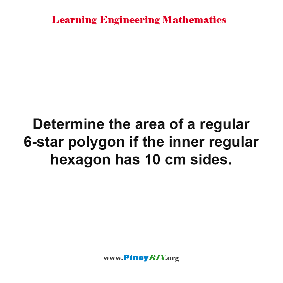 Determine the area of a regular 6-star polygon