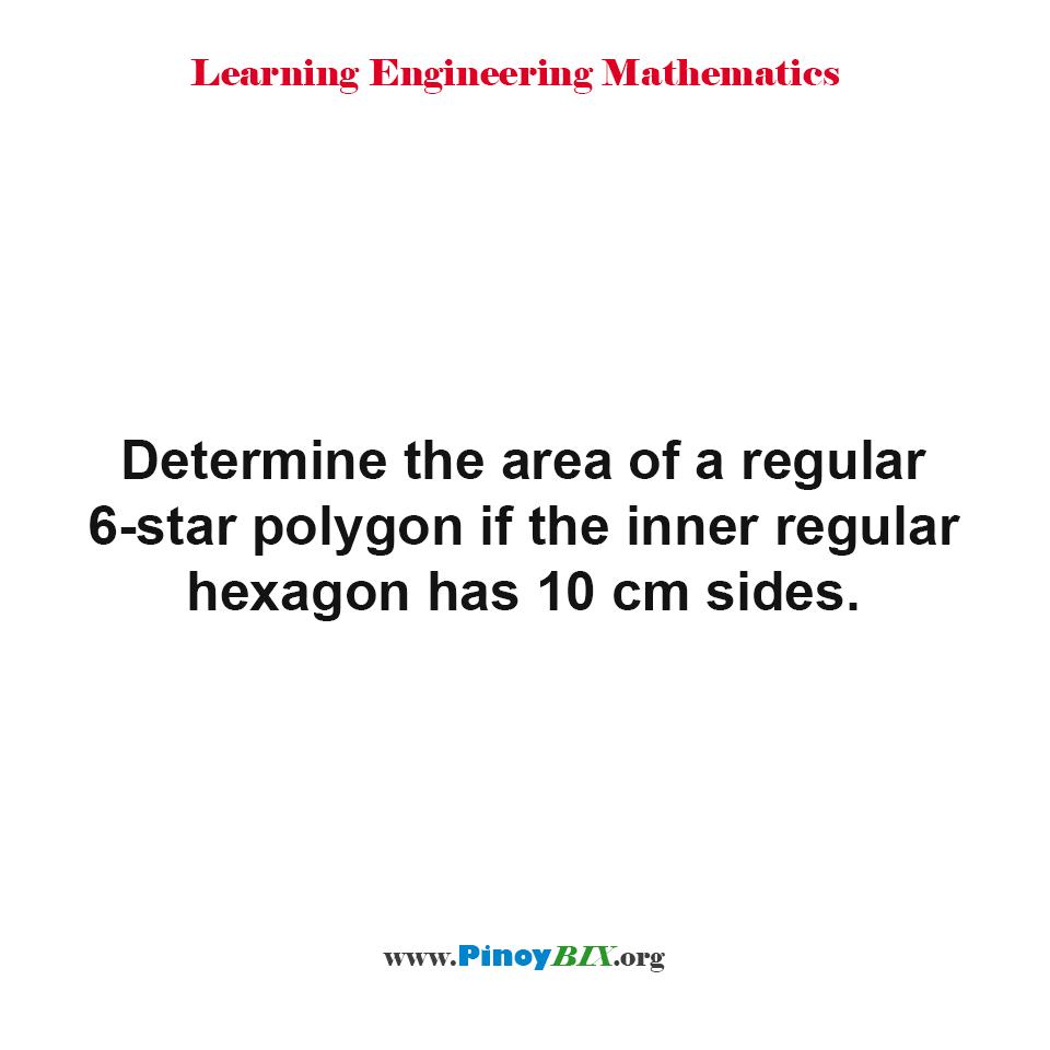 Determine the area of a regular 6-star polygon