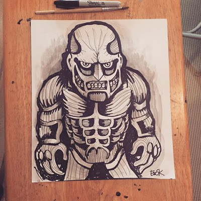 Colossal Titan drawing...