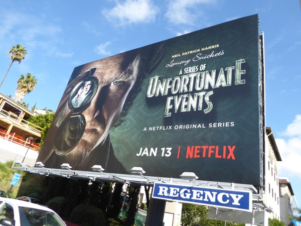 Lemony Snickets Unfortunate Events Netflix billboard