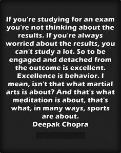 Excellence Exam Quotes
