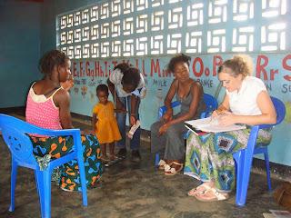 Margreet running the clinic at Tiyamike