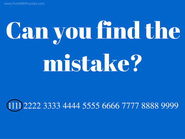 Finding Mistake in Picture Brain Teaser Solution