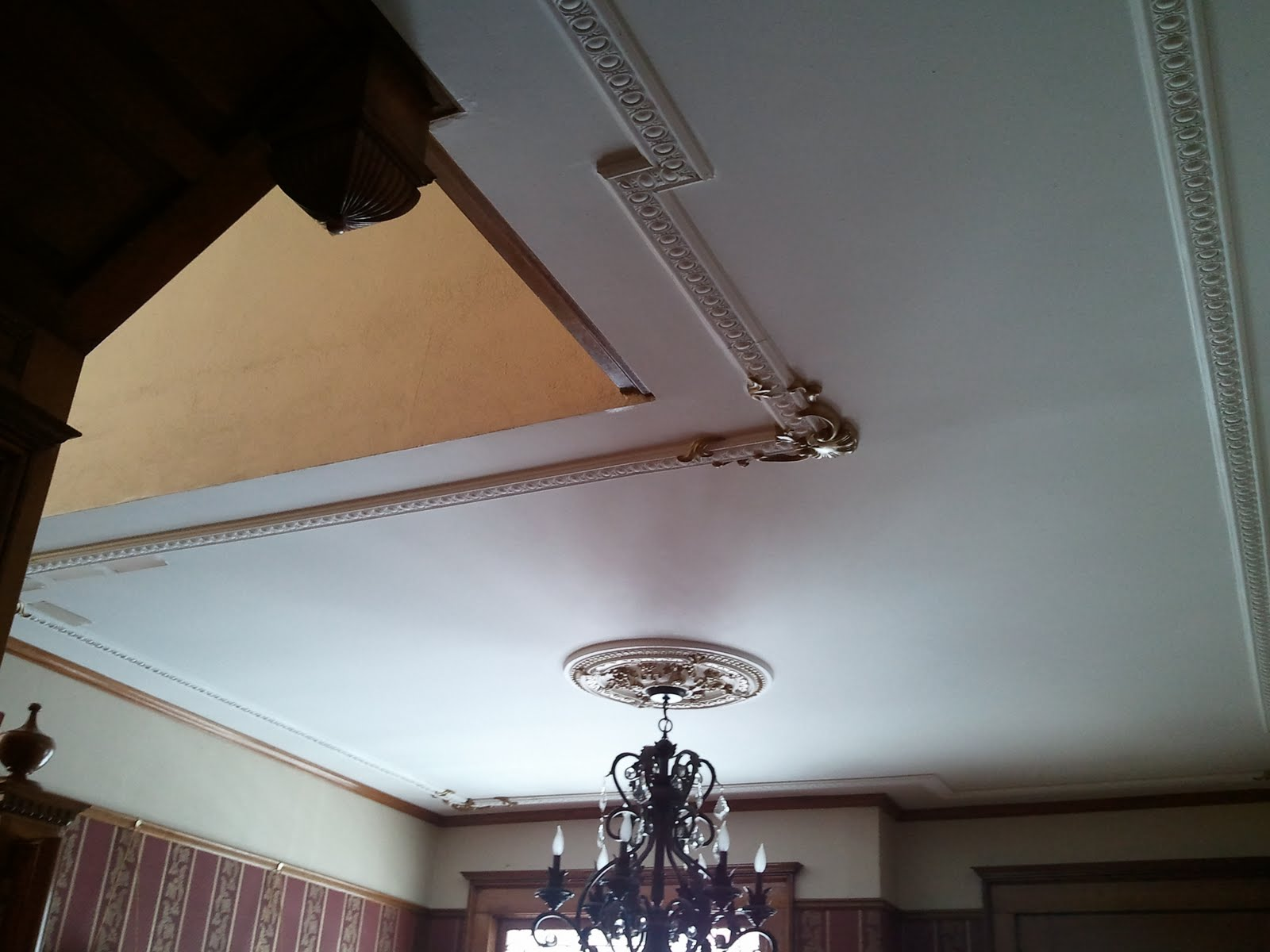 Victorian Ceilings Ideas Our Victorian Home Restoration Victorian Ceiling