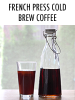 Easy cold brewed coffee made right in your french press