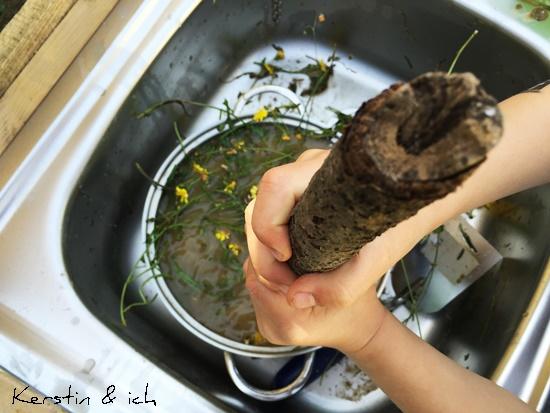 Kinder Küche Outdoor matschen