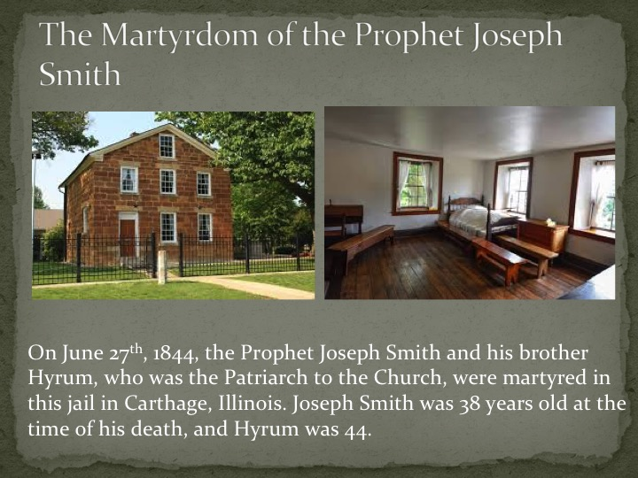 the imprisonment and faith of joseph smith sr Historical examination of joseph smith, the founding prophet of mormonism, and his relationship with the traditions of gnosticism, kabbalah, hermeticism, masonry, and.