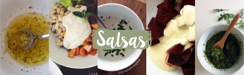 Salsas veganas de La Cazuela Vegana