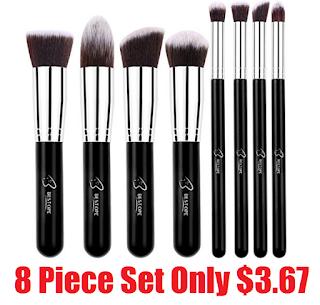 bestope 8 piece professional makeup brush set 367  free