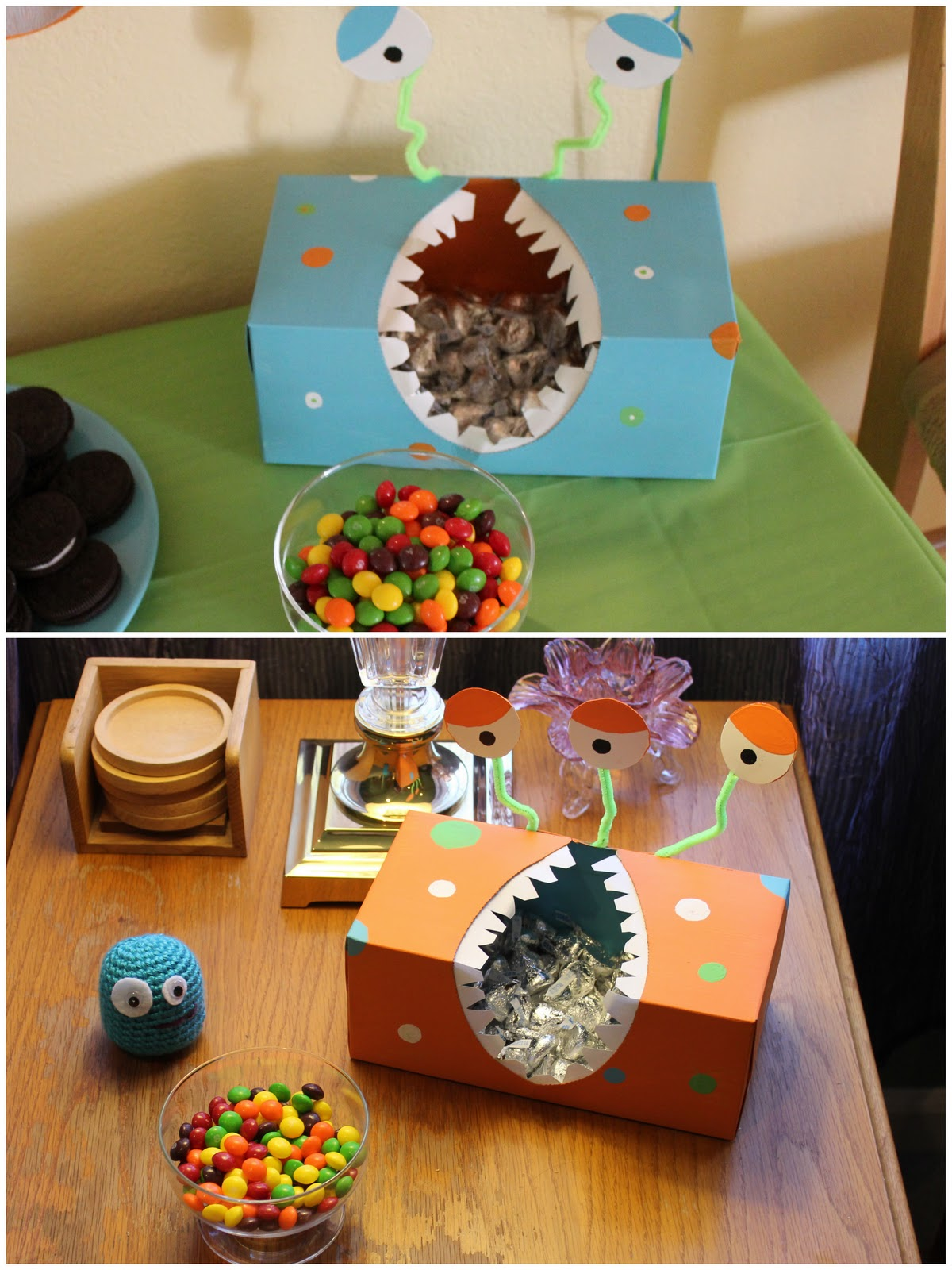Then You Become A Mom DIY Monster Birthday Party Decorations