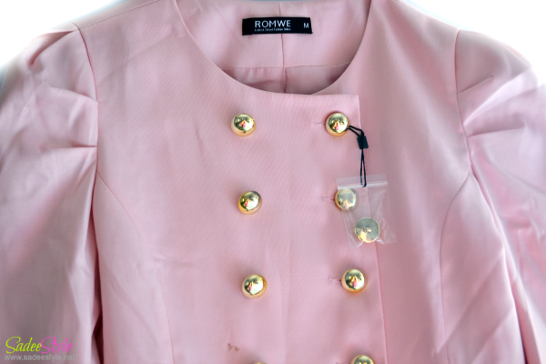 Romwe Spring Pink Trench
