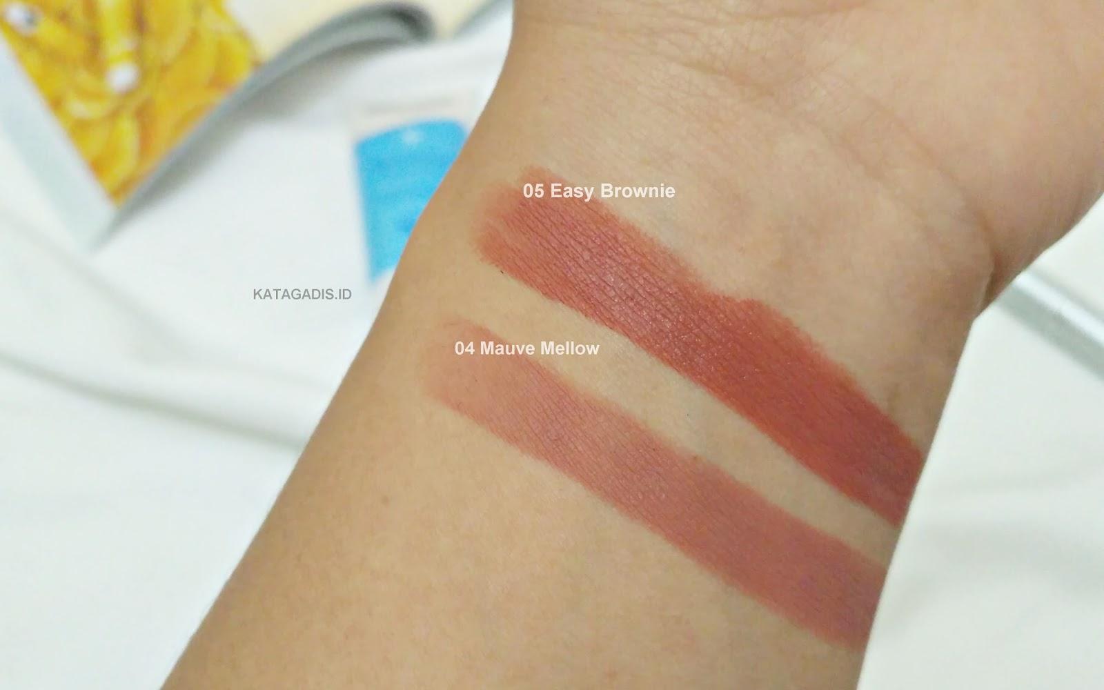 Wardah Intense Matte Lipstick 04 Mauve Mellow Daftar Harga Terkini Lipstik Easy Brownie Dua Yang Digadang