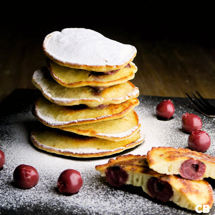Keersekeukskes, ouderwetse Limburgse kersenpannenkoekjes