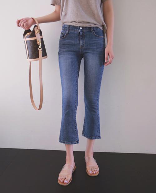 Semi-Bootcut Ankle Grazer Jeans