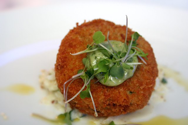 Crispy Crab and Salt Cod Cake