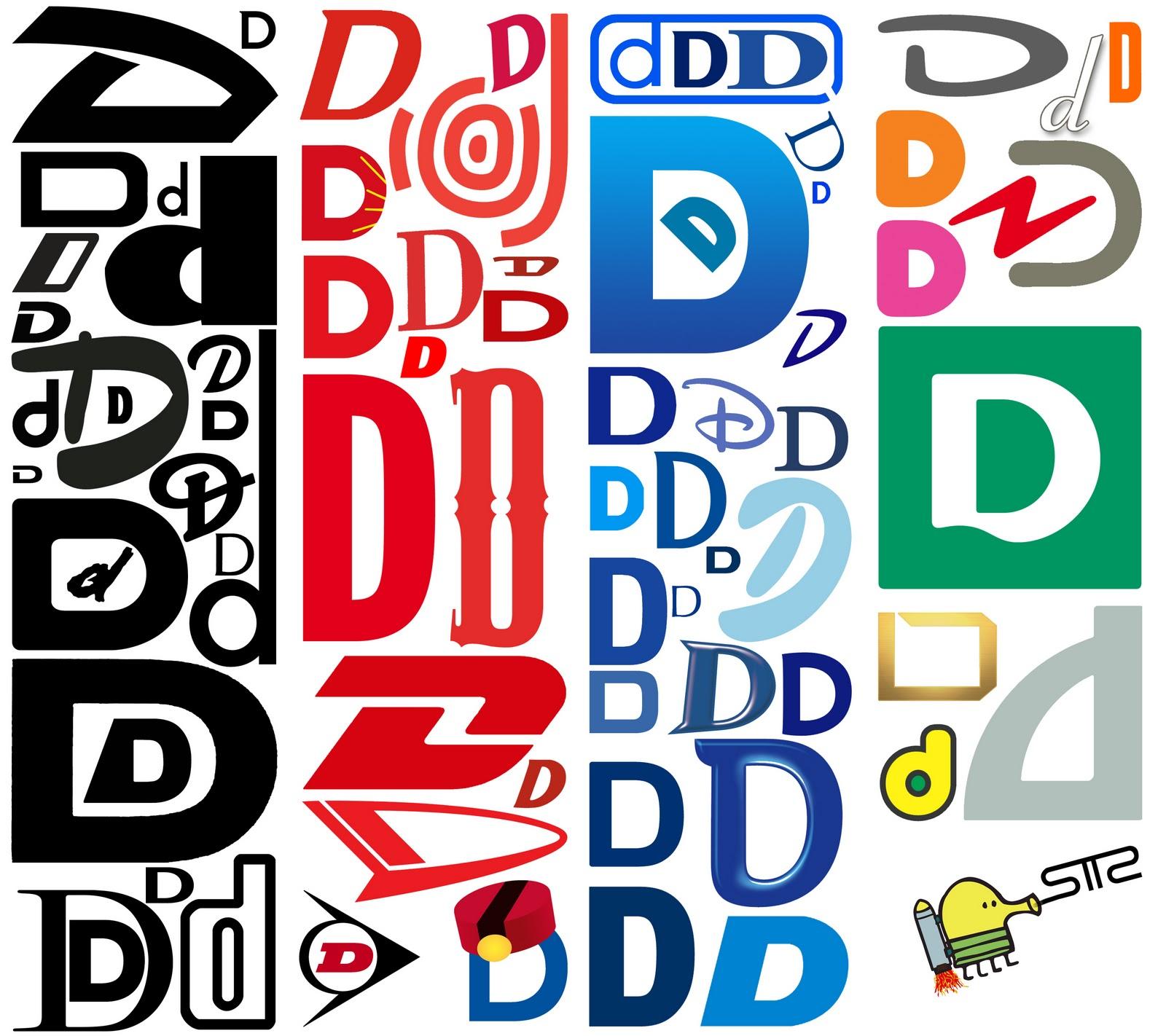 logo lettre d SanTTcheZ: Alphabet logo typographie: Lettre