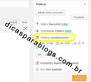 Agendar Postagem no Wordpress
