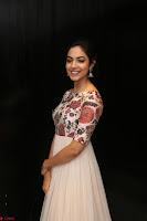 Ritu Varma smiling face Cream Anarkali dress at launch of OPPO New Selfie Camera F3 ~  Exclusive 016.JPG