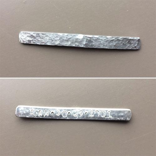 aluminium strip voor een ring bewerken