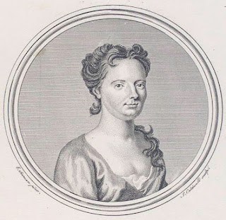 Francesca Cuzzoni, depicted in an 18th century engraving by the English artist James Caldwall