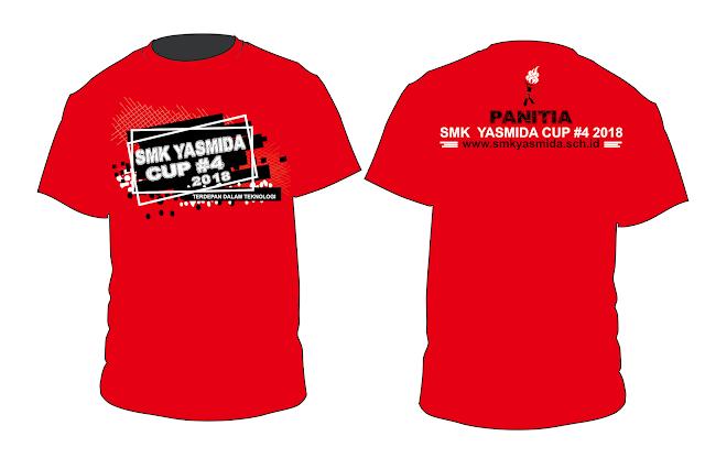 Design Kaos Panitia SMK Yasmida Cup #4 2018