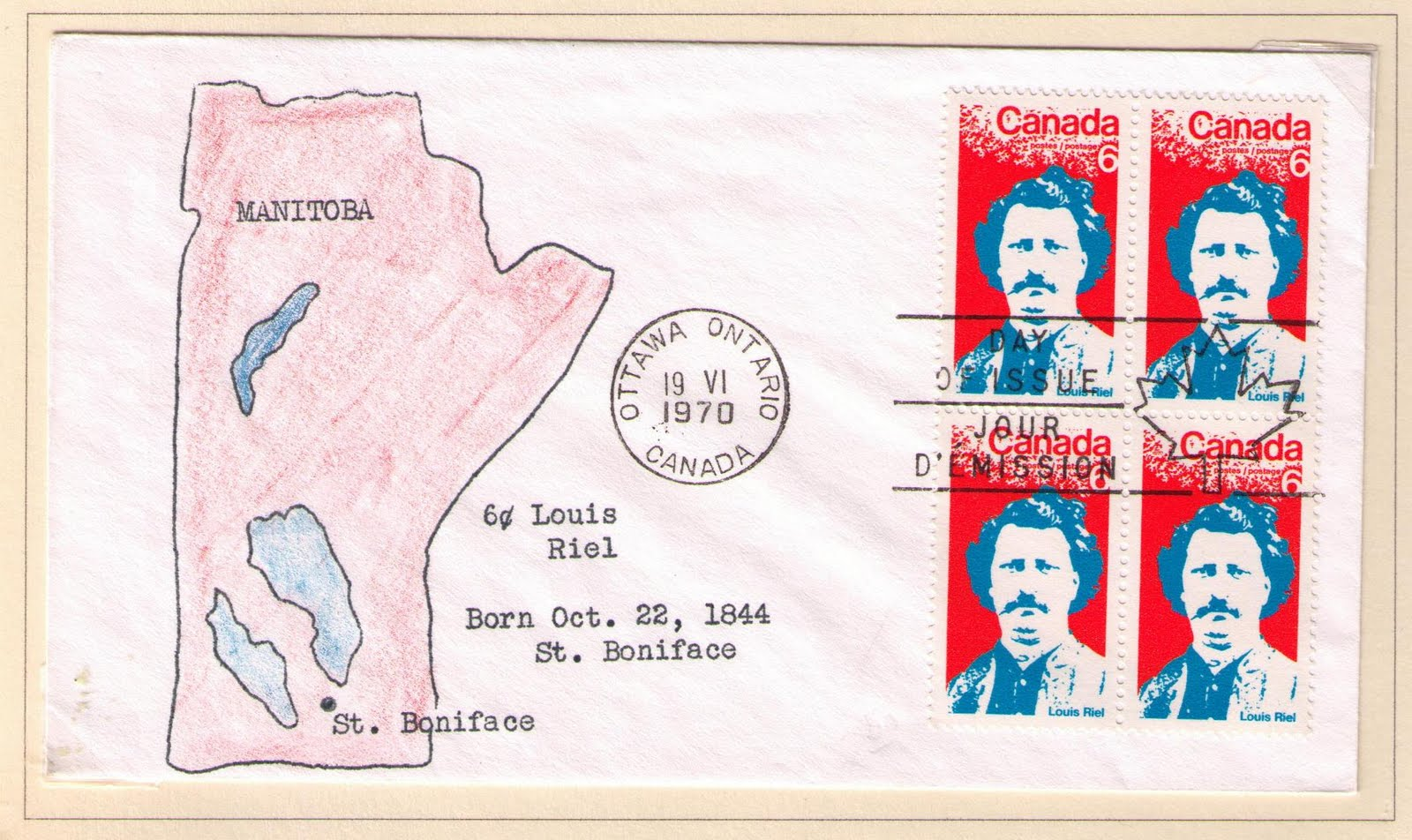 postal history corner louis riel david pritchard