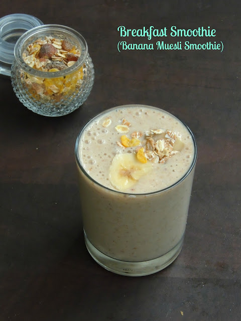 Breakfast smoothie, Banana muesli Smoothie