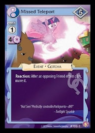 My Little Pony Missed Teleport Absolute Discord CCG Card