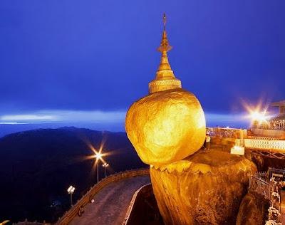 Gran roca de oro y Pagoda Kyaiktiyo