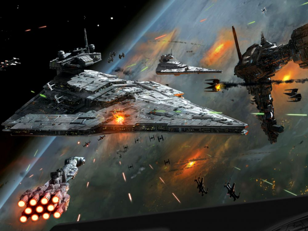 Fantasy Space Star Wars Art Wallpaper Desktop Wallpapers