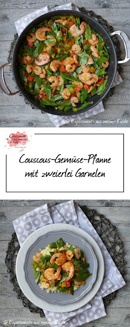 Couscous-Gemüse-Pfanne mit zweierlei Garnelen | Kochen | Rezept