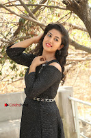 Telugu Actress Pavani Latest Pos in Black Short Dress at Smile Pictures Production No 1 Movie Opening  0247.JPG