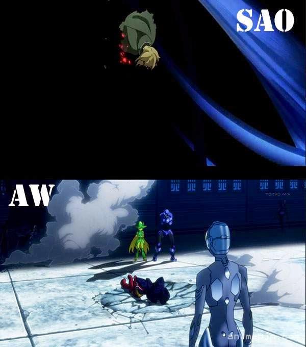 Sword Art Online X Accel World ( SAO X AW ) - setengah badan