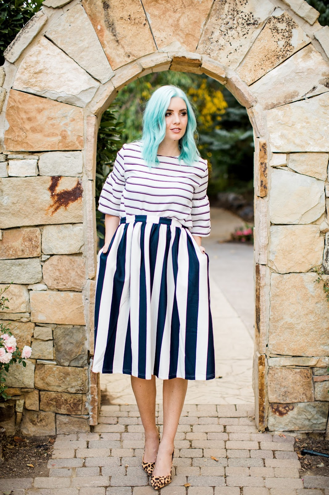 Striped Skirt, Modest Skirt, Modest Outfit