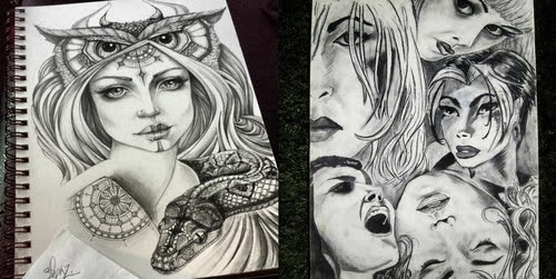 00-Steph-Diaz-Zahalka-A-Compilation-of-Different-Portrait-Style-Drawings-www-designstack-co