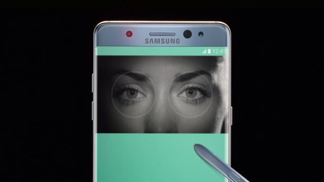 Los bancos usarán el escáner de iris del Samsung Galaxy Note 7