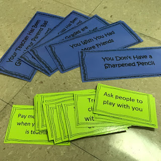 Problem solving lesson plan sort and match activity cards