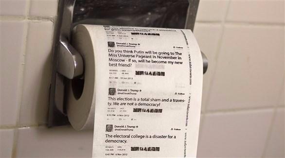 ورق مرحاض بتغريدات ترامب يحقق مبيعات مرتفعة