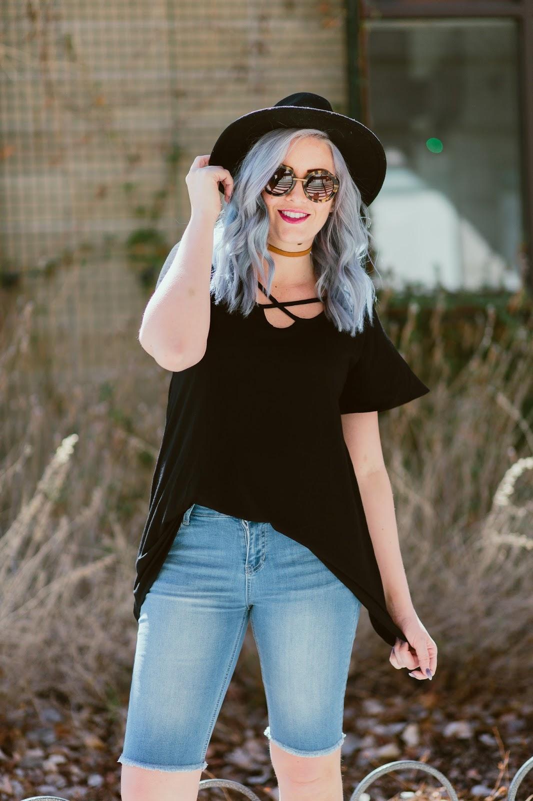 LipSense, Modest Shorts, Criss Cross Shirt