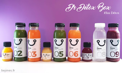 Box Détox 9 Jus de Fruits - DrDetoxBox (code promo)