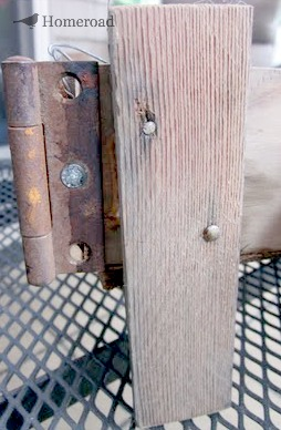 wooden piece with hinge