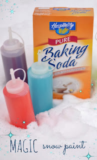 Magic Snow Paint Recipe- my kids had so much fun hunting for magic snow with their magical snow paint