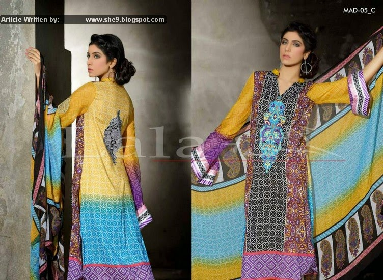 LALA MADHAM EMBROIDERED Lawn COLLECTION 2015